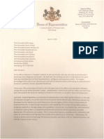 Letter from Rep. Dawn Keefer to senators