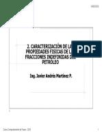 2b. PROPIEDADES FÍSICAS FRACCIONES INDEFINIDAS