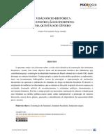 NOGUEIRA, Leomaria Novais - A visão sócio-histórica da construção do feminino