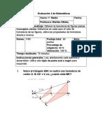 cuarta prueba parcial 1° M - segundo semestre