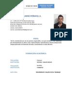 hojas de vida actualizada Ander