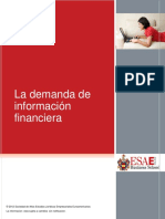 La demanda de informacion financiera