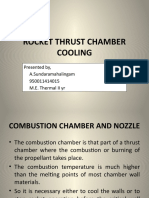 Thrust chamber cooling