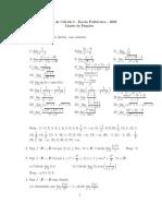 Lista de Cálculo I