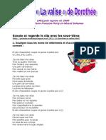 Chanson - La valise de Dorothee