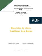 JESÚS CUEVAS #01 1-C-19 Ejercicios de Libro Auxiliar Caja Banco