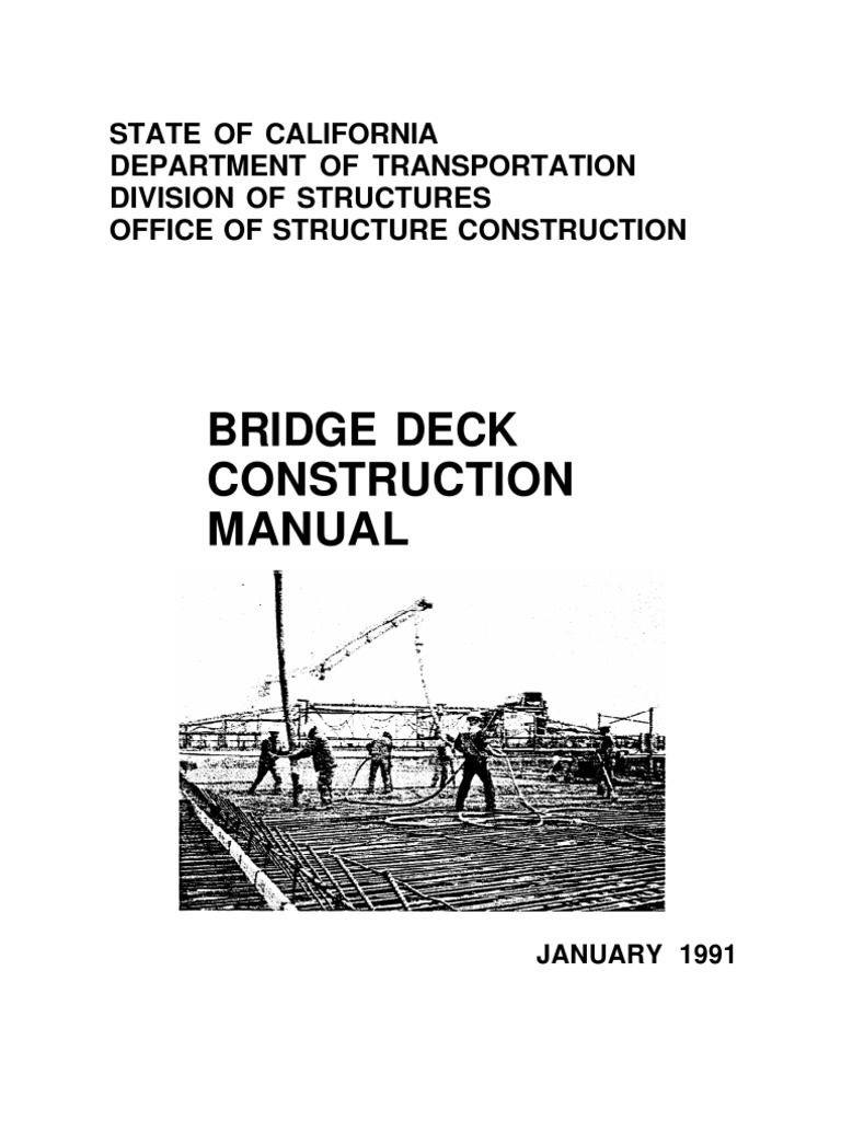 Bridge Deck Construction Manual | Specification (Technical