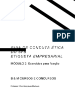 APOSTILA - GUIA DE CONDUTA ÉTICA e ETIQUETA PROFISSIONAL - MÓDULO 2 - EXERCÍCIOS - DEFINITIVA