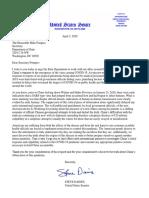 2020.04.03 Letter to Secretary Pompeo - Coronavirus Response