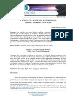 ALTERNATIVA DE SCHAUER  AO PROBLEMA DA TEXTURA ABERTA DA LINGUAGEM - NATÁLIA AMARAL DA ROSA