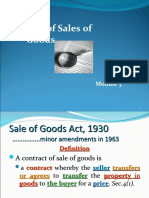 Sales of Good Act
