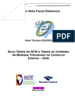 NT 2016_003_v_1_40 - Nova Tabela NCM  e Utrib - vigência 01-07-2018
