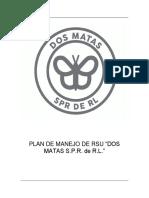 """PLAN DE MANEJO DE RESIDUOS SOLIDOS URBANOS EN LA EMPRESA """"Dos Matas S.P.R. de R.L."""""""