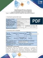 Guía de actividades y rúbrica de evaluación_Fase 2_Establecer solucion para estudio de caso unidad 2