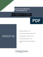 Organizational Behavior at 10 Minute School