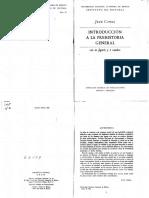 Comas, Juan. pp. 1-73. Introduccion a la Prehistoria general 1