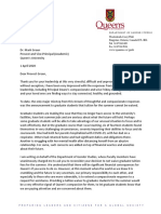 Letter to Provost Green Re Grad Tuition Power
