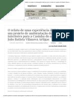 O relato de uma experiência didática_ um projeto de ambientação de interiores para a Casinha do arquiteto João Batista Vilanova Artigas