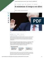 Boris Johnson ingresado en cuidados intensivos por coronavirus - Europa - Internacional - ELTIEMPO.COM