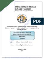 Carlos E. Rengifo Sáenz - Tesis de maestria UNT - El impacto económico de la aplicaciçon de los principios del Buen Gobierno Corporativo en la CAC León XIII de la ciudad de Trujillo - 2017