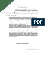 Declaración pública consulta ciudadana