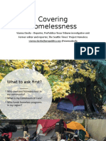 Covering Homelessness - Vianna Davila