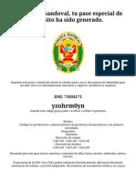 Gobierno del Perú x