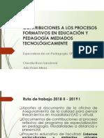 Contribuciones a los procesos formativos en educación y tecnología