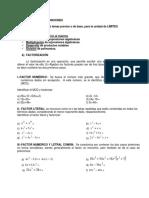 Ejercicios 1. Factorizacion y simplificacion