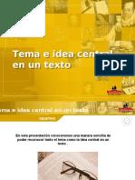Tema, idea central