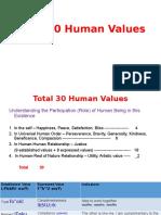 A. Total 30 Values