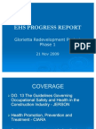 MDC EHS Progress Report Presentation 21 Nov 09