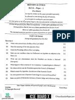 ICSE 2019 History & Civics  Question Paper