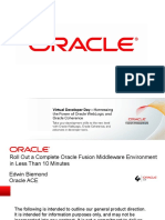 Roll Out a Complete Oracle Fusion Middleware Environment in less than 10 minutes
