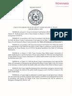 Bexar County Executive Order