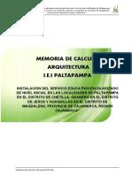 Memoria de calculo Arquitectura Paltapampa