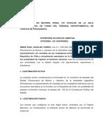 Texto Acción de Libertad formulado por Senadora Aguilar