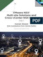 VMware NSX Multi-site Solutions and Cross-VCenter NSX Design