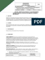 III.PROCEDIMIENTO DE RECEPCIÓN Y ALMACENAMIENTO