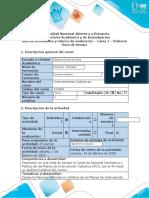 Guia de actividades y rubrica de evaluacion - Tarea 1 - Elaborar linea de tiempo
