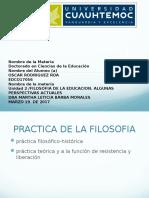 FILOSOFIA DE LA EDUCACOIN