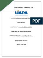 TAREA 1 DE LEGISLAION DE TRANSITO. LUIS DANIEL REYES.