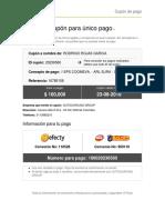 cupon DE PAGO EPS