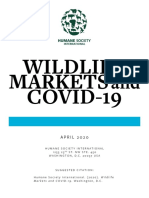 Wildlife Markets and COVID-19 White Paper Apr 2020