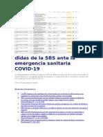 Medidas de la SBS ante la emergencia sanitaria COVID