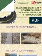 CLASE 1 PAVIMENTOS- INTRODUCCION