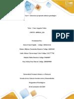 Unidad 3 Fase 4 - Estructura propuesta informe psicológico