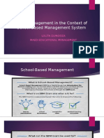 Fiscal Management in the Context of School-Based Management