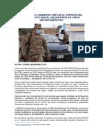 POR QUÉ EL GOBIERNO AMPLIÓ EL HORARIO DEL AISLAMIENTO SOCIAL OBLIGATORIO EN CINCO DEPARTAMENTOS - JORGE FERNANDEZ LOO