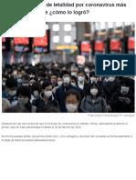 Chile tiene la tasa de letalidad por coronavirus más baja del continente ¿cómo lo logró